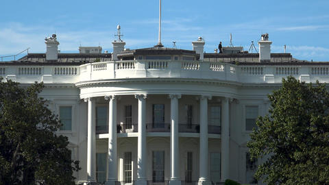 WASHINGTON, DC, USA - The south of the White House GIF