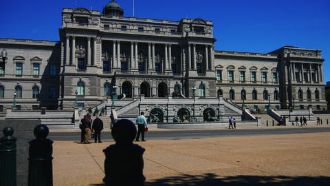 WASHINGTON, DC, USA: Library of Congress Building, the… Stock Video Footage