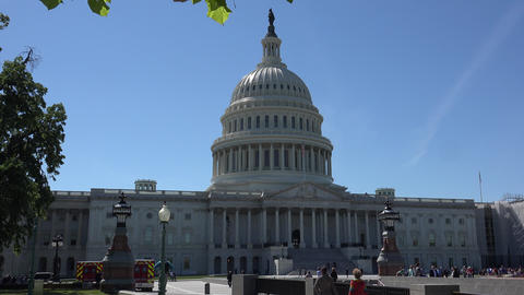 WASHINGTON, DC, USA, The U S Capitol,often called the Capitol Building Live Action