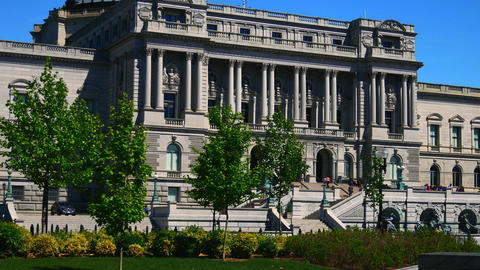WASHINGTON, DC, USA: Library of Congress Building, the Thomas Jefferson Building GIF