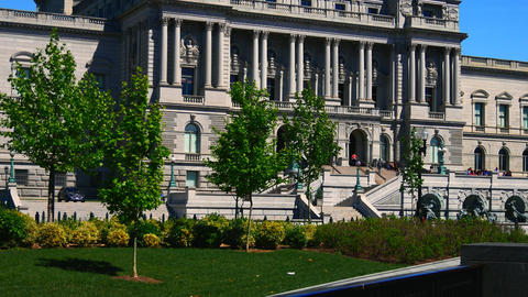 WASHINGTON, DC, USA: Library of Congress Building, the... Stock Video Footage