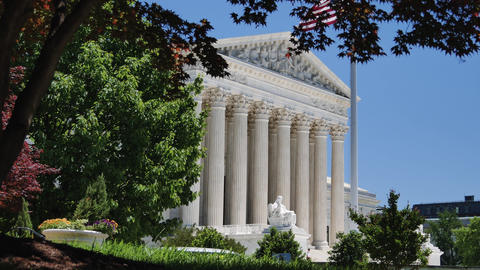Washington DC: Untied States Supreme Court Building Footage