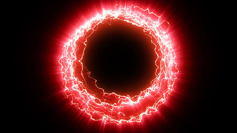 Electric portal red Animation