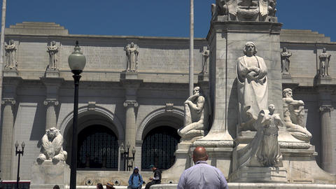 WASHINGTON, DC, USA: Columbus Fountain, located at Union Station in Washington GIF