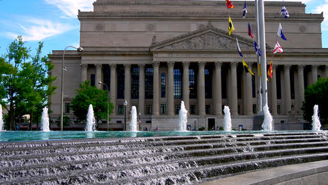 WASHINGTON DC, USA: The National Archives building in downtown DC GIF