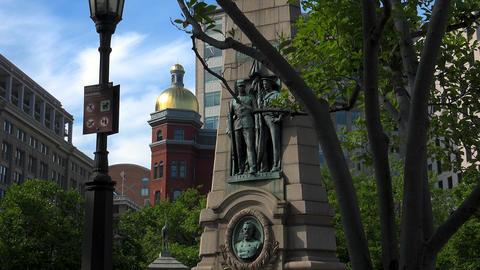 Washington DC: Stephenson Grand Army of the Republic... Stock Video Footage