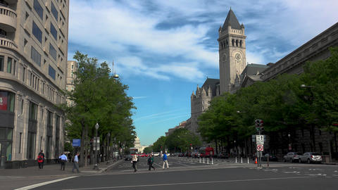 WASHINGTON DC, USA. Building at the Pennsylvania Avenue... Stock Video Footage