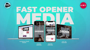 Fast Opener Media Premiere Pro Template