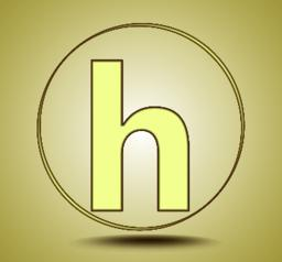 Letter H lowercase, round golden icon on light golden gradient background Vector