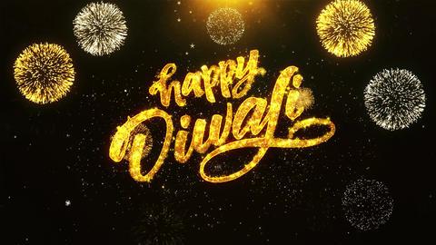 Happy Diwali Dipawali Text Greeting, Wishes, Celebration, invitation Background GIF