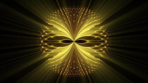 Slowly Glowing Golden Shining Cosmic Eye On Black Background VJ Loop Footage