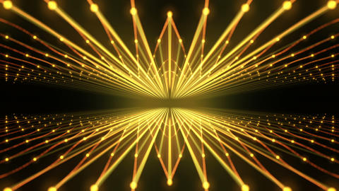 Slowly Rising and Falling Golden Cosmic Strings With Dot Sparkling Particles VJ Live Action