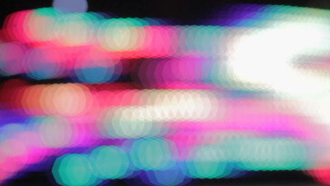Abstract background with colourful illuminating LED lights, merry-go-round Footage