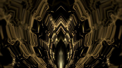 Rising Golden Energy Sun Flower With Geometrical Hard Particles VJ Loop Live Action