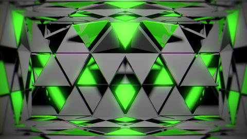 Rotating Green Grey Particles Sparkling Glowing Room VJ Loop Footage