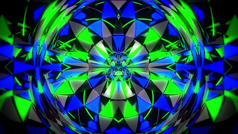 Cirlcle Kaleidoscopic Mosaic Colorful Particles Shining Sparkles Black Live Action
