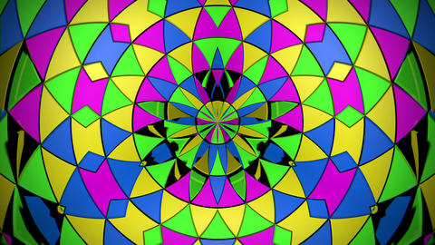 Circle Radiating Flower Sun Colorful Triangle Particles VJ Loop Live Action