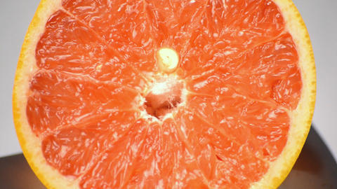 Grapefruit Close Up Rotation Stock Video Footage