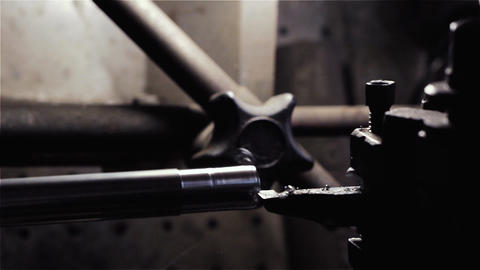Metal Detail In A Spindle Of The Industrial Lathe. Close-Up 영상물