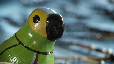 Wooden Parrot. Aboriginal Crafts Of Paraguay GIF