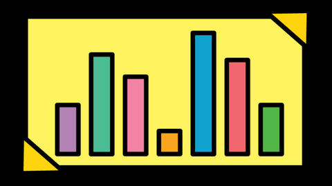 Financial Bar Graph icon Line Drawing Animation Transparent Vector Motion Animation