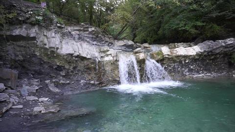 Waterfall on mountain river GIF