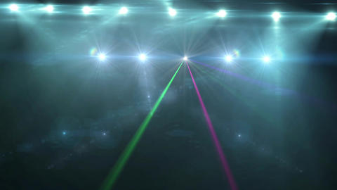 Animation disco glow lights and rays of spotlights HD Footage