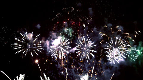 Fireworks at celebration night Live Action