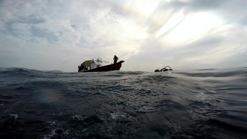 Diving on the reefs of the Maldives archipelago. Dive the boat Dony collects div Footage