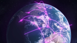 Networked Earth - Purple Animation