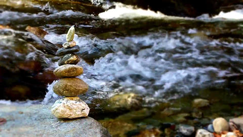 Stones with water Footage