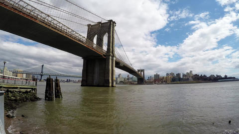 Brooklyn bridge time lapse Footage