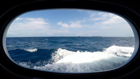 The view from the window of a dive boat. Diving Safari along the reef of the Mal Footage