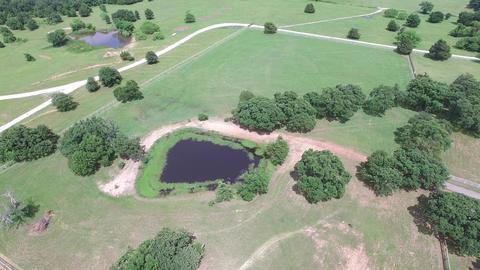 Aerial Flight Over Double Oak Texas stock footage