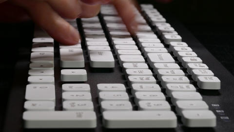4K Ungraded: Typing on Computer / Mad Man / Keyboard Keys Live Action