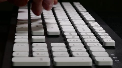 4K Ungraded: Hands on Keyboard / Typing on Computer /... Stock Video Footage