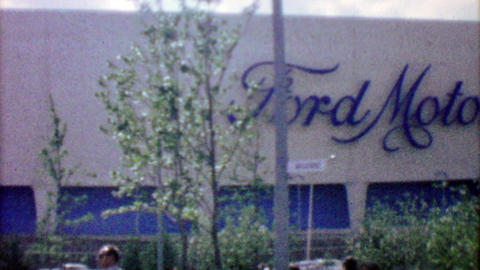 1964: Ford Motor Company building at EXPO New York World's Fair Footage