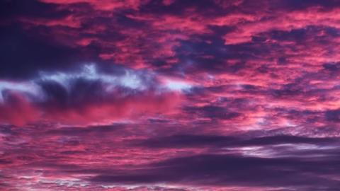 Purple Red Sunset Clouds Background Footage