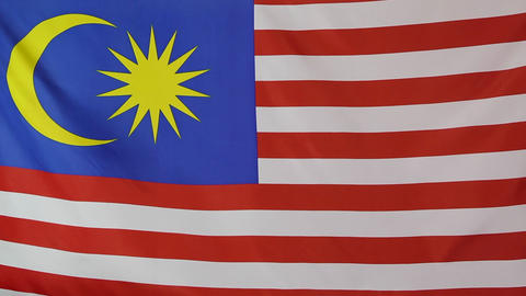 Fabric national flag of Malaysia Footage
