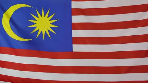 Fabric national flag of Malaysia Footage