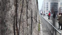 tourist in the Berlin Wall in Berlin Germany Footage