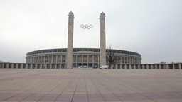Olympiastadion sports stadium in Berlin, Germany Footage