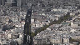 Paris skyline France Eiffel Tower Footage