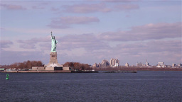 Statue of Liberty in New York Footage