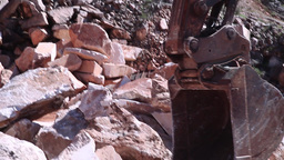 bucket of excavator arm working Footage