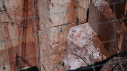 fence from old marble stone quarry, focus defocus Footage