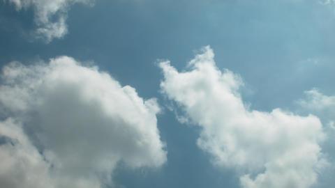 雲 タイムラプス 青い空 日本 東京 Footage