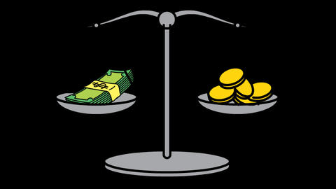 Money Scale IMoney Scale icon Line Drawing Animation Transparent Vector Motion Animation