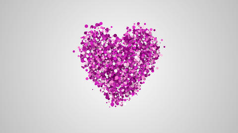 slow motion of particles in heart shape Live Action