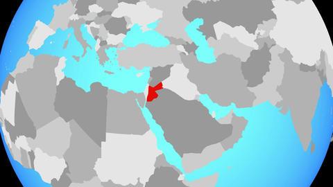 Zooming to Jordan on globe Animation